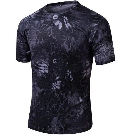 TYPHON Short Sleeve T Shirt Combat CQB Quick Dry Tee FBI Swat Black Kryptek