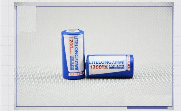 10 uds/lote batería de litio Original 16340 rcr123a 1200mAh 3,6 V 16340 CR123A recargable para cámara digital linterna pilhas