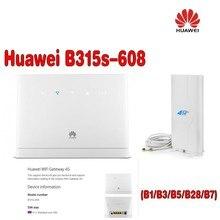 Huawei B315s-608 LTE FDD700/850/1800/2100/2600 (B1/3/5/7/28) Mhz Sans Fil VOIP Routeur CPE plus 4g antenne