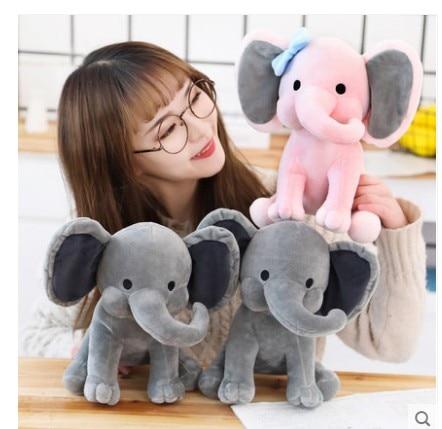 holiday gift plush toy barto duck dog lula ellie elephant doll 1Pcs Cartoon Plush Elephant Toy Baby Kids  Stuffed Plush  Elephant Doll For Birthday Gift