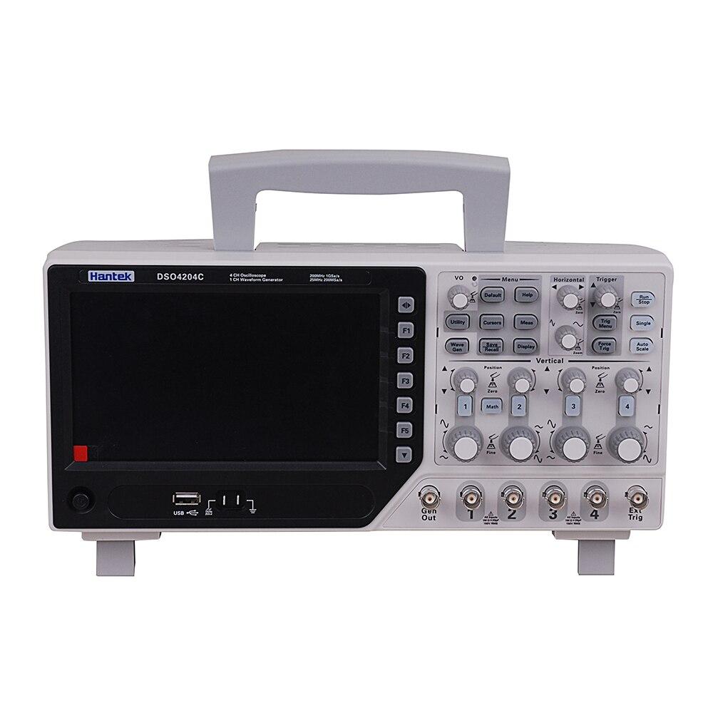 Hantek DSO4204C 4CH 1GS/s 80-250 MHz 4 canales 1CH árbitro/función generador DE onda osciloscopio DE envío