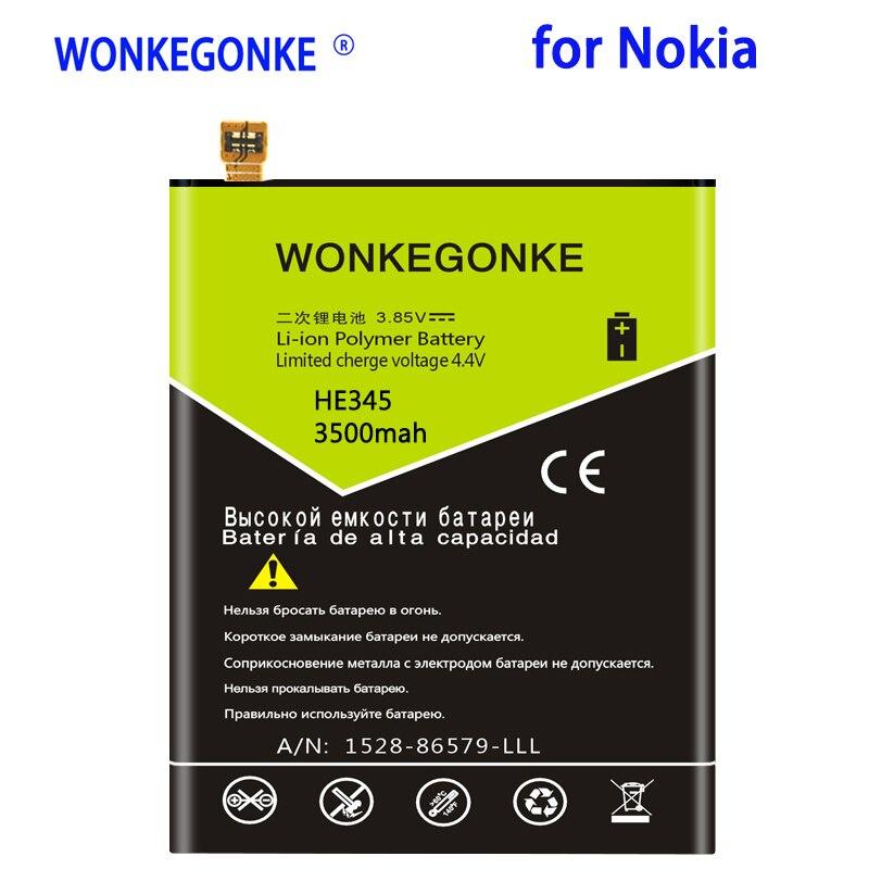 WONKEGONKE 3500mah HE345 batería para Nokia HE345 Li-ion Baterías de polímero de...