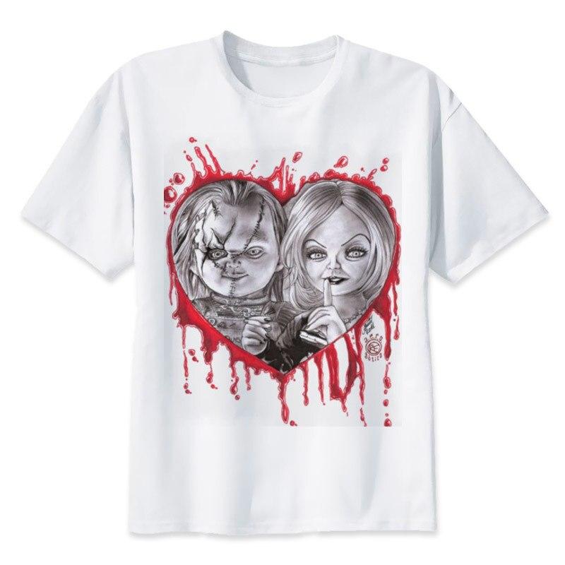 Camiseta Chucky para hombre, ropa informal de moda de alta calidad, camiseta Casual de Horror, camiseta Chucky con cuello redondo, ropa para hombre