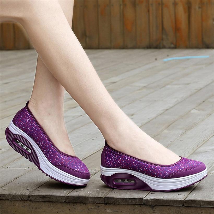 Zapatos para caminar al aire libre, Zapatos deportivos antideslizantes para Mujer, zapatillas De deporte De suela gruesa con cojín De aire para Mujer, Zapatos De Mujer 0911