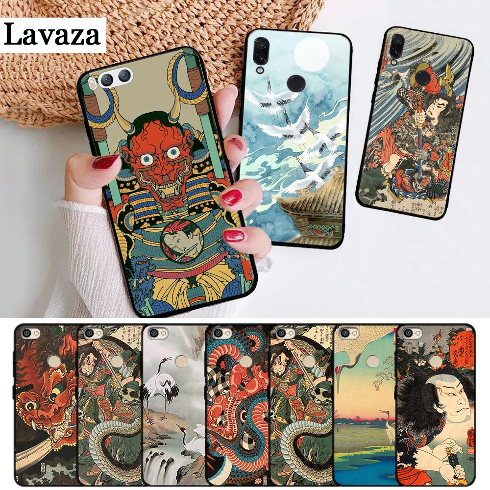 Lavaza Japanese style Art Silicone Case for Xiaomi Redmi 4A 4X 5 5A 6 6A 7 7A 8 8A K20 Pro Plus S2 Go