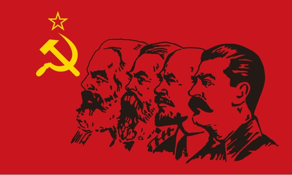Cafetnik, bandeira do comunismo 3 x 5 ft 90*150cm/60*90cm, flagras do emblema soviético do sr do cccp