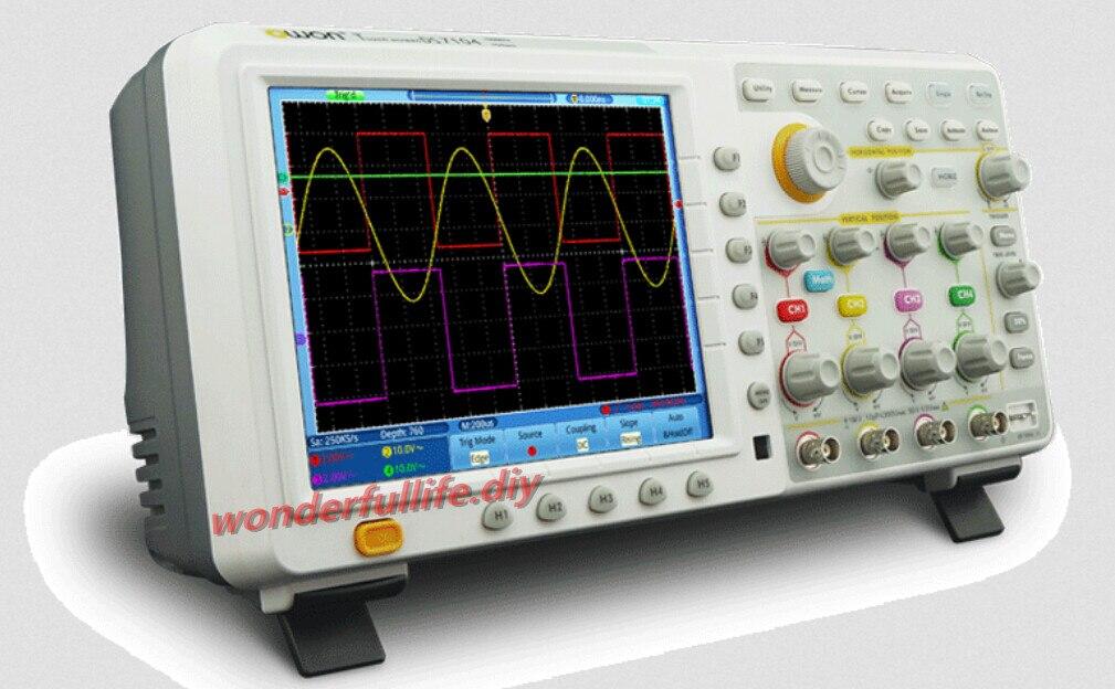"""OWON TDS8204 Digitale Oscilloscoop 8 """"touchscreen kleur LCD 4 kanalen 200 MHz 2GS/s 7.6 M Record lengte"""