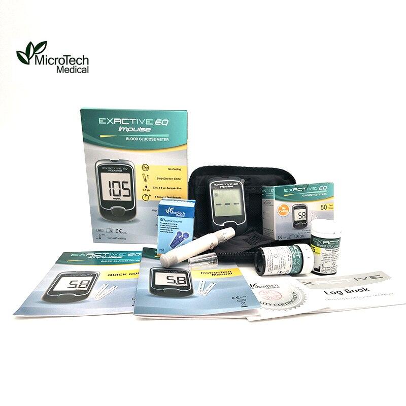 MICROTECH MEDICAL EQ прибор для измерения глюкозы в крови с монитором диабетиков тест