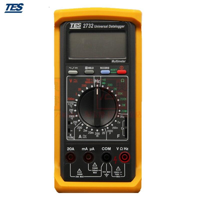 TES-2732A registrador de datos multímetro Digital con RS232 interfaz