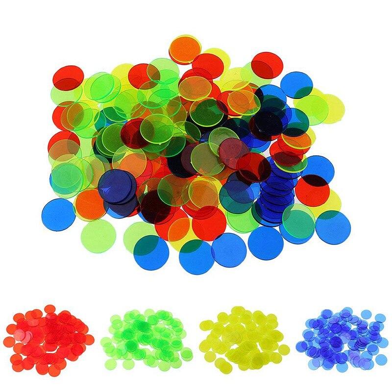 15/19 milímetros de Várias cores Rodada Moedas 100 pçs/set de Poker Fichas De Poker De Plástico Transparente Por Atacado
