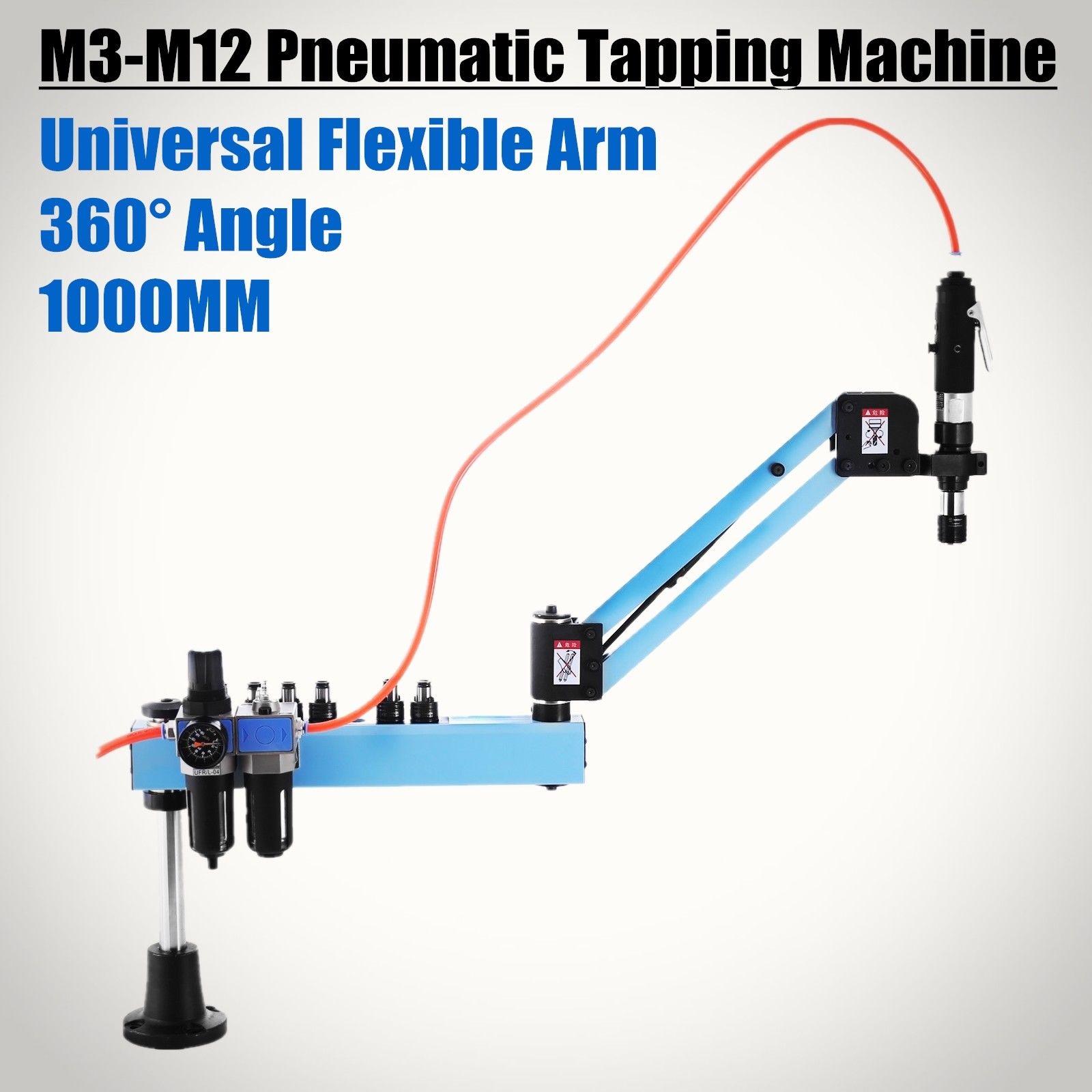 Máquina de perforación neumática Vertical radio 1000mm Horizontal automática