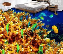 Tapeten 3d moderne rollen 3d-bodenbelag Korallen schildkröte schlafzimmer tapete 3d bodenfliesen selbstklebende tapete 3d boden