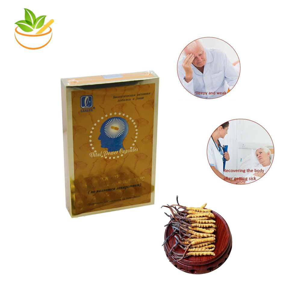 4 Packs Ganoderma Lucidum Cordyceps Sinensis Kapseln Pillen Produkt Myzel Pilz League Anti Aging Müdigkeit Verbessern Immunität