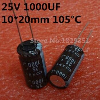 25В 1000 мкФ 10х20мм КМГ 1000 мкФ 25В 50 шт./лот японский алюминиевый конденсатор Nippon Высокое качество ic...