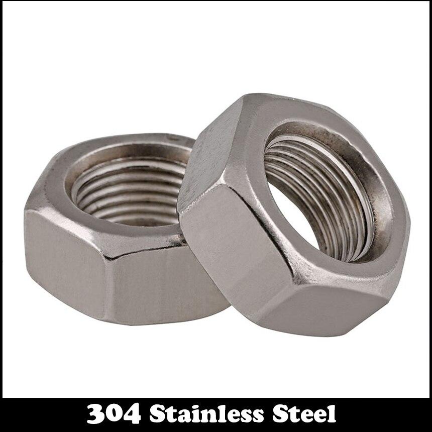 1 шт. M18 M18 * 1,5 M18x1.5 DIN934 304 нержавеющая сталь 304ss тонкая резьба с шестигранной гайкой