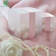 SHIPPING--HOT gratuit 5x5 mat clair PVC anniversaire boîte cadeau boîtes de faveur de mariage chocolat bonbons boîtes événement sucré boîte à bonbons