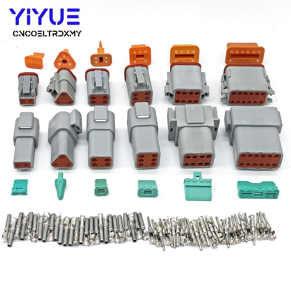 دويتش-موصل كهربائي مقاوم للماء ، سلسلة DT ، DT06/DT04 ، 2/3/4/6/8/12 دبوس المحرك وعلبة التروس ، للسيارة ، الحافلة ، الشاحنة