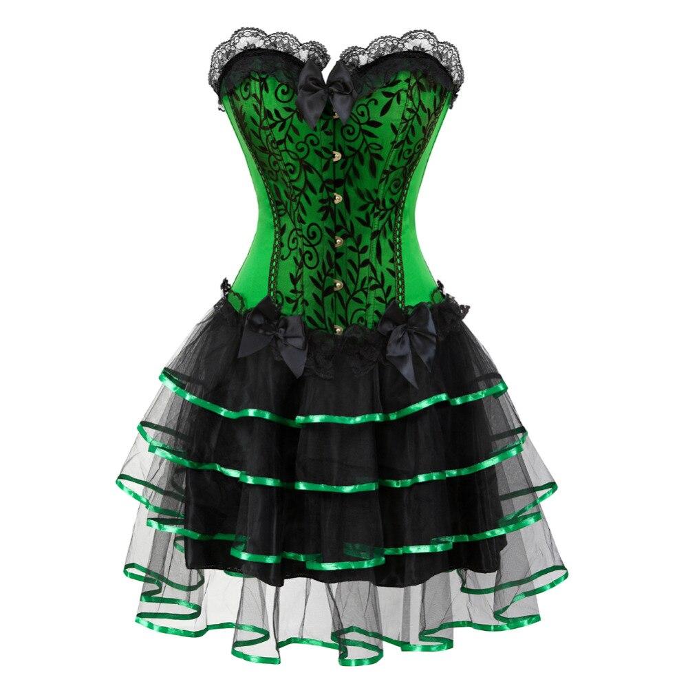 ¡NOVEDAD DE 2017! corsé Sexy para mujer, vestido elegante de halloween, minifalda tutú con combinación, vestido de carnaval, corsé de disfraz