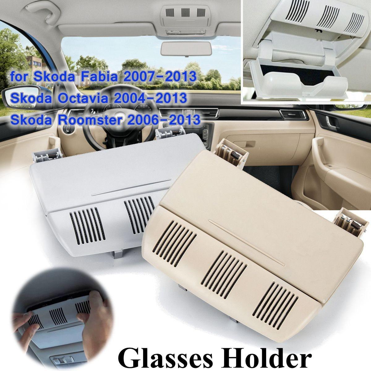 Автомобильный держатель для солнцезащитных очков, держатель для очков, ящик для хранения для Skoda Fabia Octavia Roomster 1Z0 868 565 1Z0868565E 2004-2013