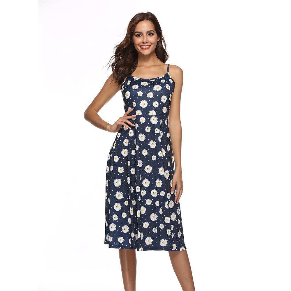 Spring Summer Women Dress Boho Maxi Long Dress Sexy Halter Split Beach Evening Party Dresses Floral Print Sling Vestido Festa #R