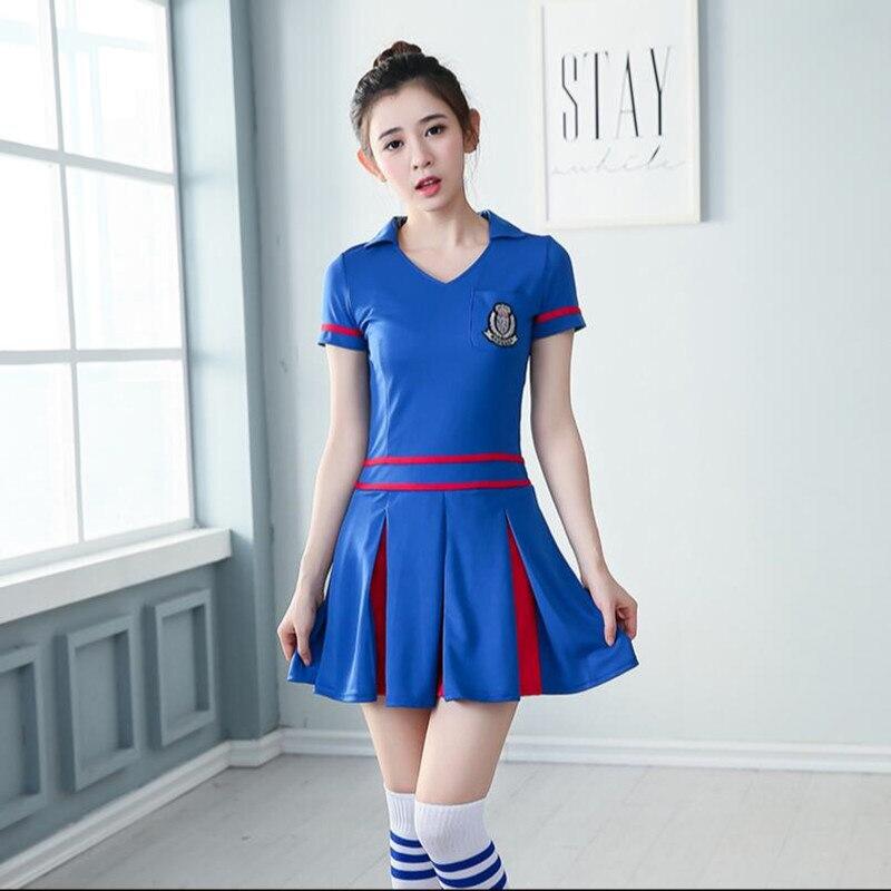 Sport Suits Cheerleading Football Baby Costumes Sexy Fantasy Split Soccer Game Team girl Cheering Uniforms Temptation