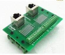 5 pcs Vertical RJ45 rj45 Breakout Placa PCB Terminal de interface Ethernet LAN port Conector do adaptador de Montagem em Trilho DIN