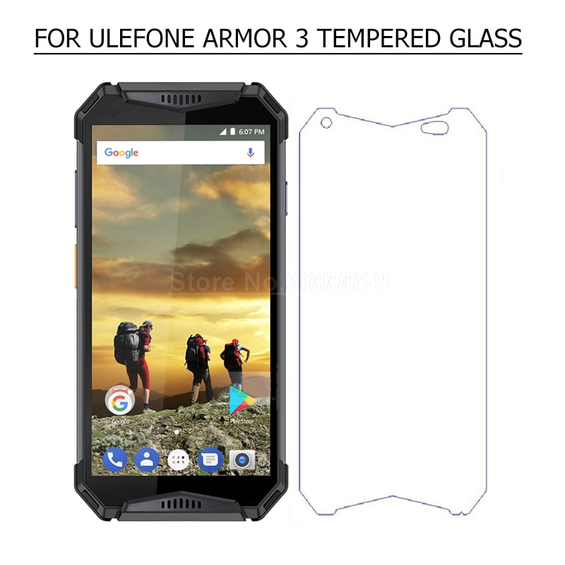 Protector de pantalla de 5,7 pulgadas para Ulefone Armor 3, cristal templado, película frontal para Ulefone Armor 3 T, cristal para teléfono 9H 2.5D
