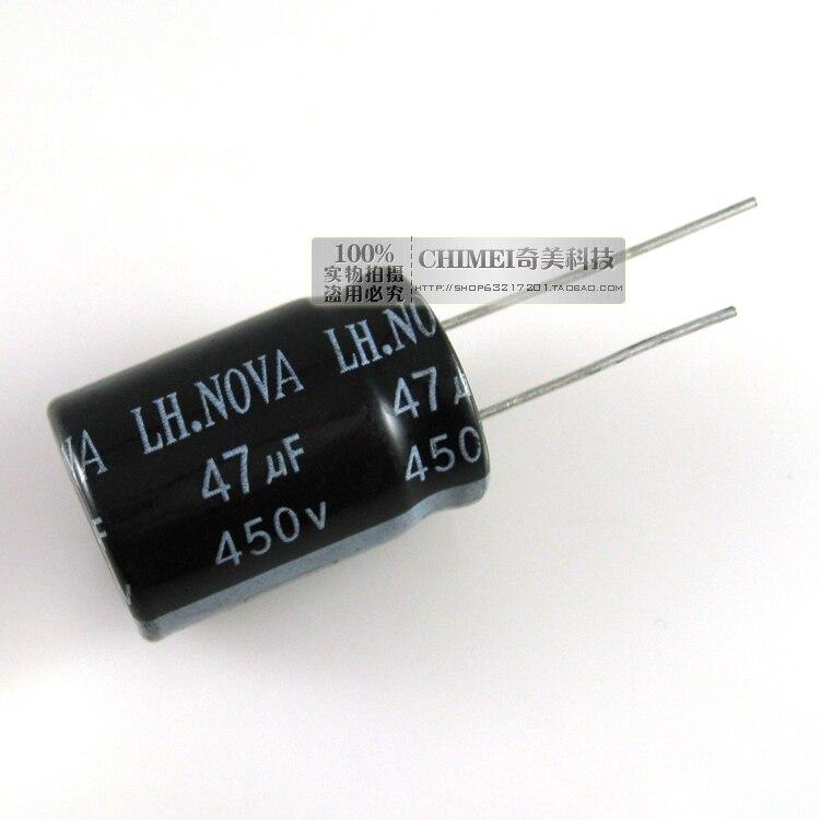 Condensador electrolítico 450 V 47 UF condensador