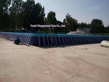 Large Above Ground PVC Inflatable Frame Water Pool Rectangular Metal Steel Frame Swimming Pool