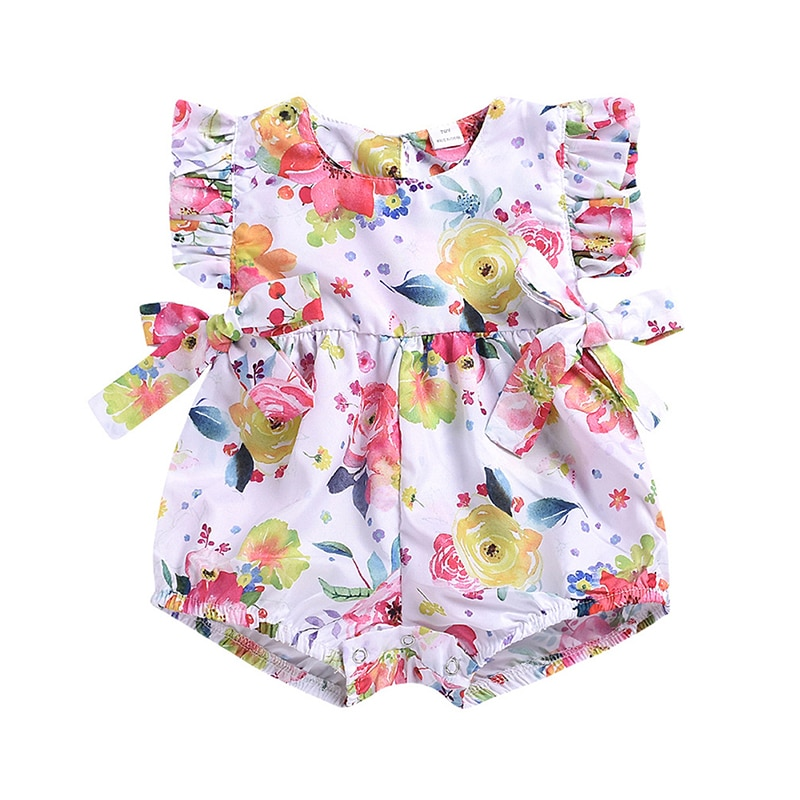 Verano bebé Kimono mamelucos niñas niños japoneses chándal niños Casual recién nacidos algodón flor jumsui