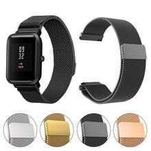 Essidi correa de 20MM para Xiaomi Amazfit Bip Youth correa de reloj Milanese Correa magnética para Xiaomi Amazfit Bip pulsera inteligente