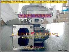RHB7 turbocompresseur 114400-1070 S 1144001070   Pour pelle Sumitomo S280 705739 083, déplacement de la terre 6BD1 6BD1T