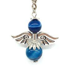 BEADZTALK pendentif en métal perle de lave porte-clés cadeau ange décoration bijoux perles en pierre naturelle collier à faire soi-même