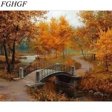 FGHGF peinture moderne sans cadre   Peinture paysage de la tour Eiffel, Kits de dessins peinture par numéros