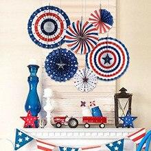 Décorations de fête américaine 6 pièces   Décor pour fond de fête, fête de lindépendance, décor mural pour fond de fête, journée de lindépendance, 4e juillet