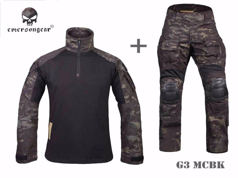 Emerson Gen3 Tactische Shirt & Broek Airsoft Combat Bdu Uniform Mcbk EM9256 EM7043
