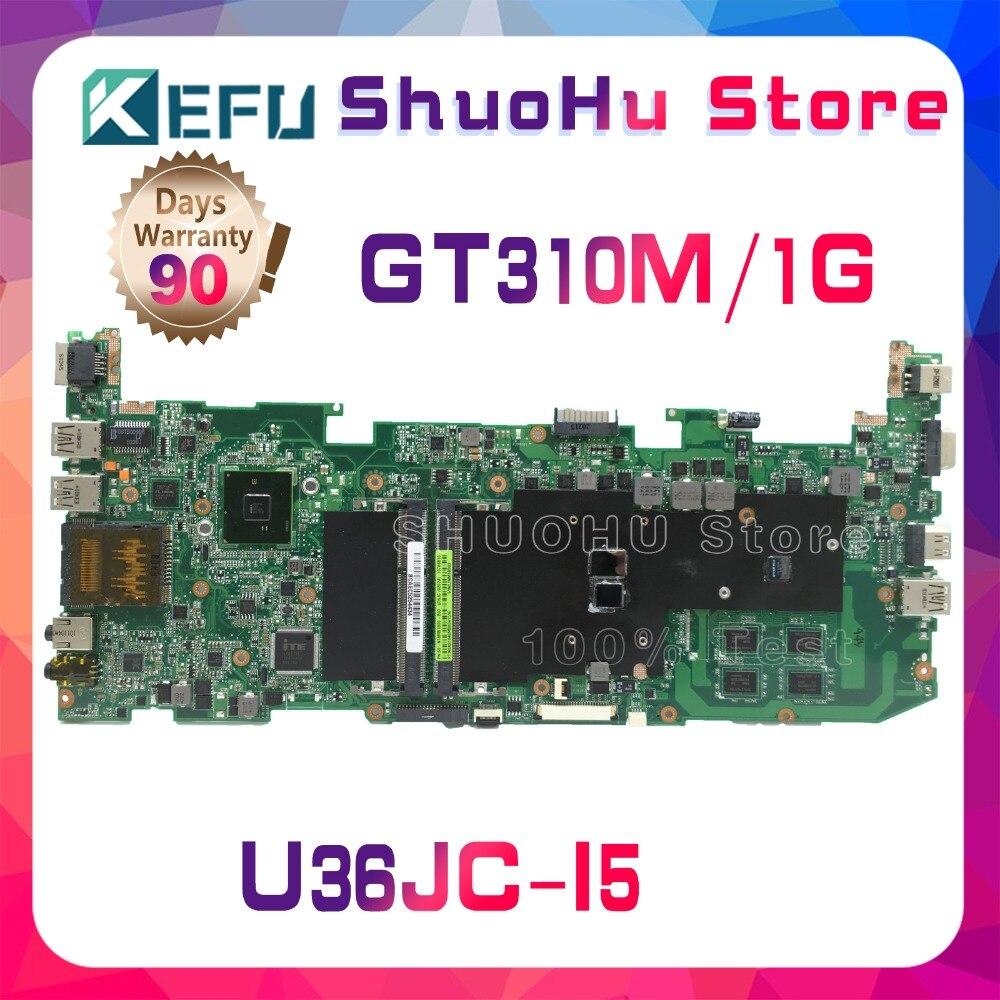 KEFU para ASUS U36JC U36J I5-460M I5-480M GT310M placa base para ordenador portátil probada 100% placa base original