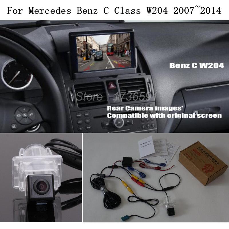 zjcgo hd car rear view reverse back up parking camera upgrade for mercedes benz mb c class w204 c180 c200 c280 c300 c350 c63 amg Car Rear View Camera For Mercedes Benz MB C Class W204 2007~2014 - Car Back Up Reverse Camera RCA & Original Screen Compatible