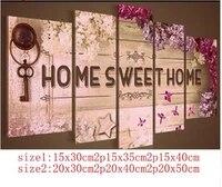 Decoration de Photo de maison douce  plein 5D  dessin de diamant classique  peinture de mosaique a faire soi-meme  perceuse en resine  broderie daiguille  Kits de point de croix
