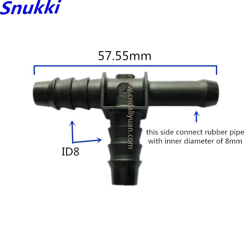 8mm ID8 conector universal en T conector general de línea de combustible rápido conector macho 5 uds. Mucho