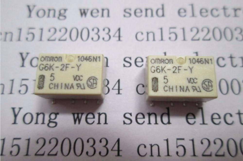 ホットな新 G6K-2F-Y-5VDC G6K-2F-Y-5 G6K-2F-Y 5VDC G6K2FY G6K-2F G6K 2F 5VDC DC5V 5 ボルト SOP8 送料無料