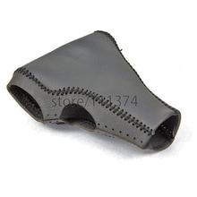 NULLA couvercle de bouton de vitesse pour Ford Mondeo   Bricolage, cuir véritable noir, ligne noire, bouton latéral automatique 2006 2007 2008 2009 2010