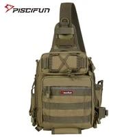 piscifun nylon fishing bag multifunctional waterproof durable single shoulder bag outdoor camping hiking gear fishing tackle bag