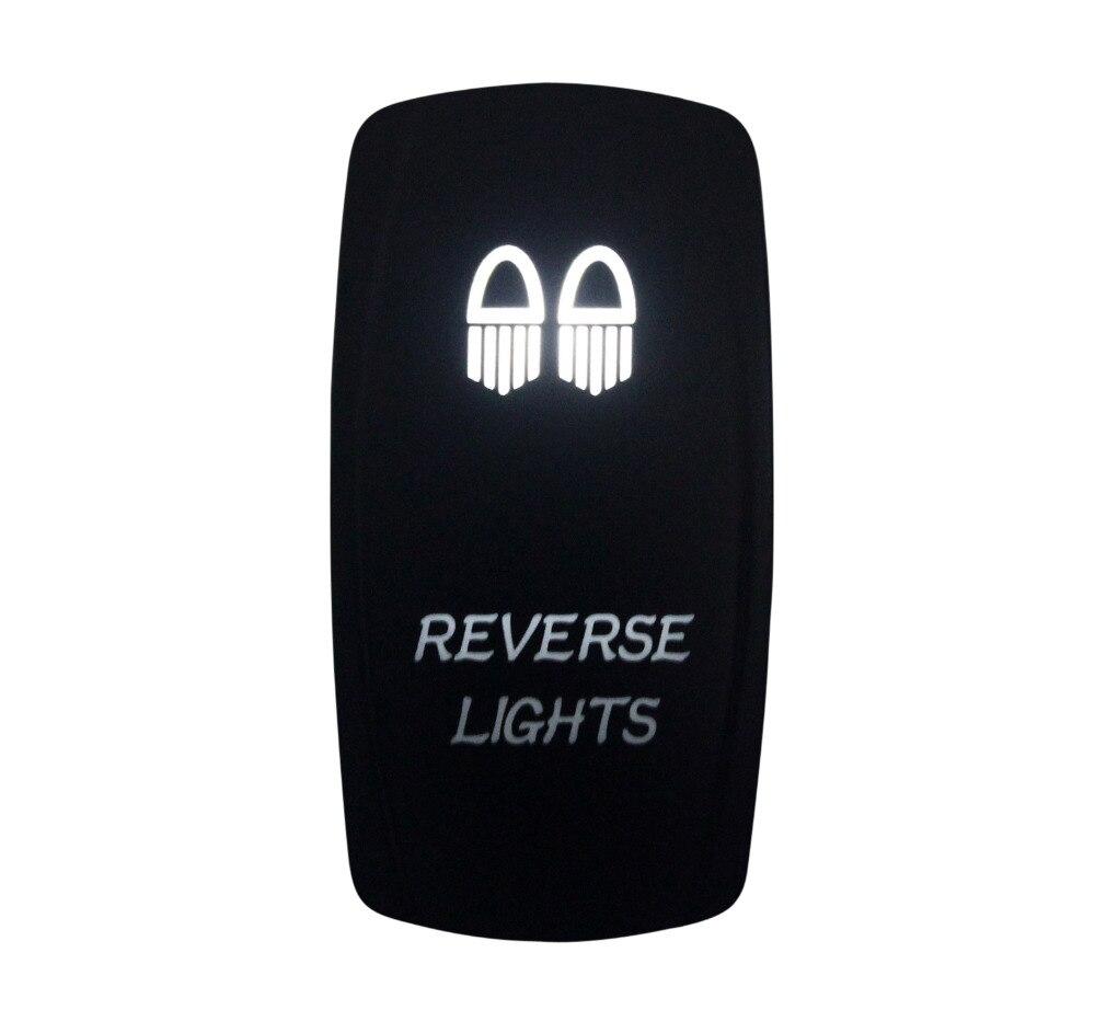 DC12V 24V Marine Grade REVERSE LIGHTS Rocker Switch White Led lamp 3 Pin ON/OFF SPST Waterproof IP66