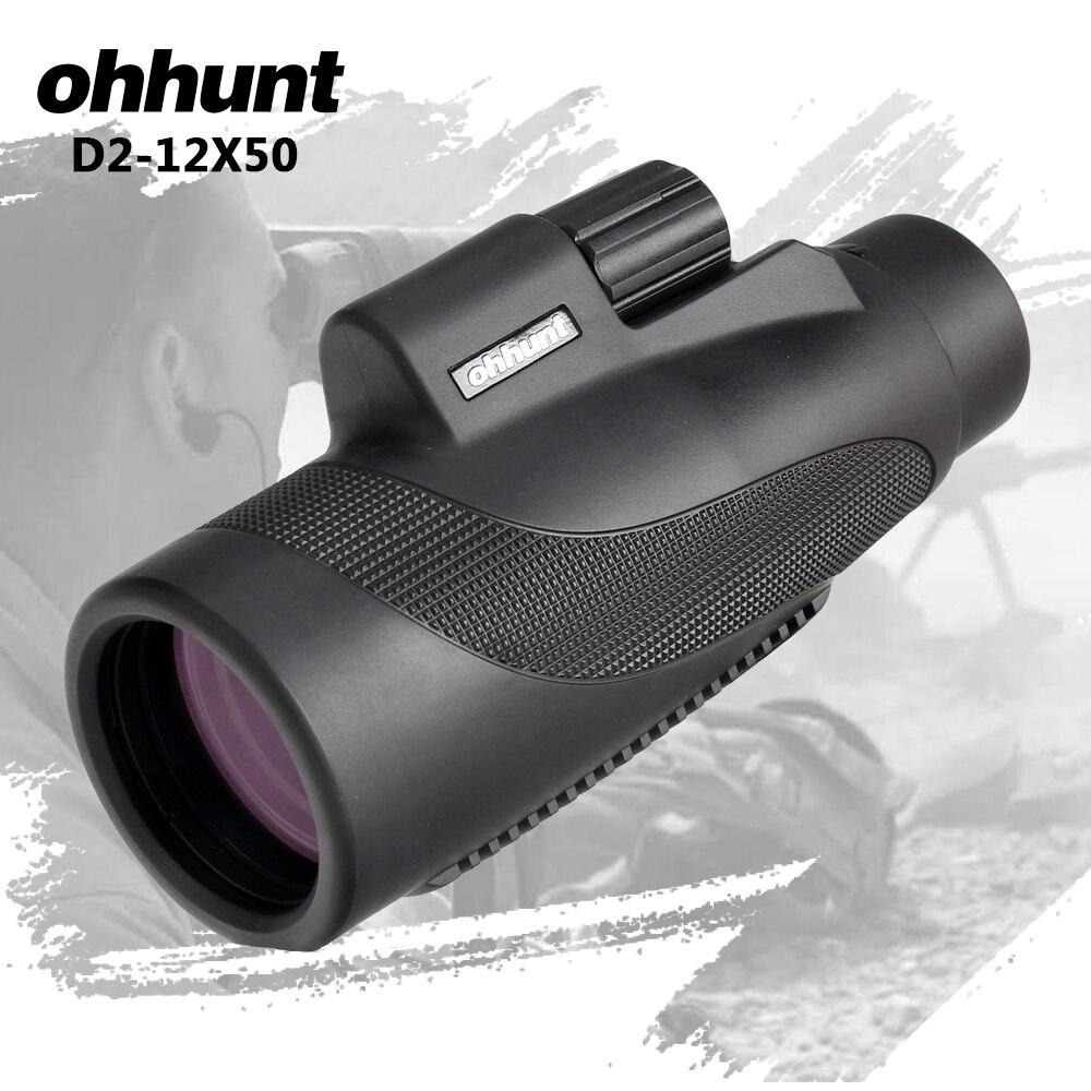 Ohhunt Monokulare 12X50 BAK4 Prisma Wasserdichte Mini Teleskop Professionelle Spektiv Große Okular Outdoor Camping Wandern