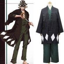 Костюм для косплея, японское аниме BLEACH Urahara Kisuke, костюм для Хэллоуина, накидка, топ, штаны, шляпа, 2019