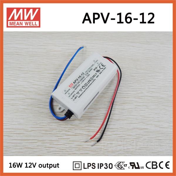 Decir WELL1 12 V Led APV-16-12 de salida única 15 W 12 V 1.25A de energía de conmutación de alimentación APV-16