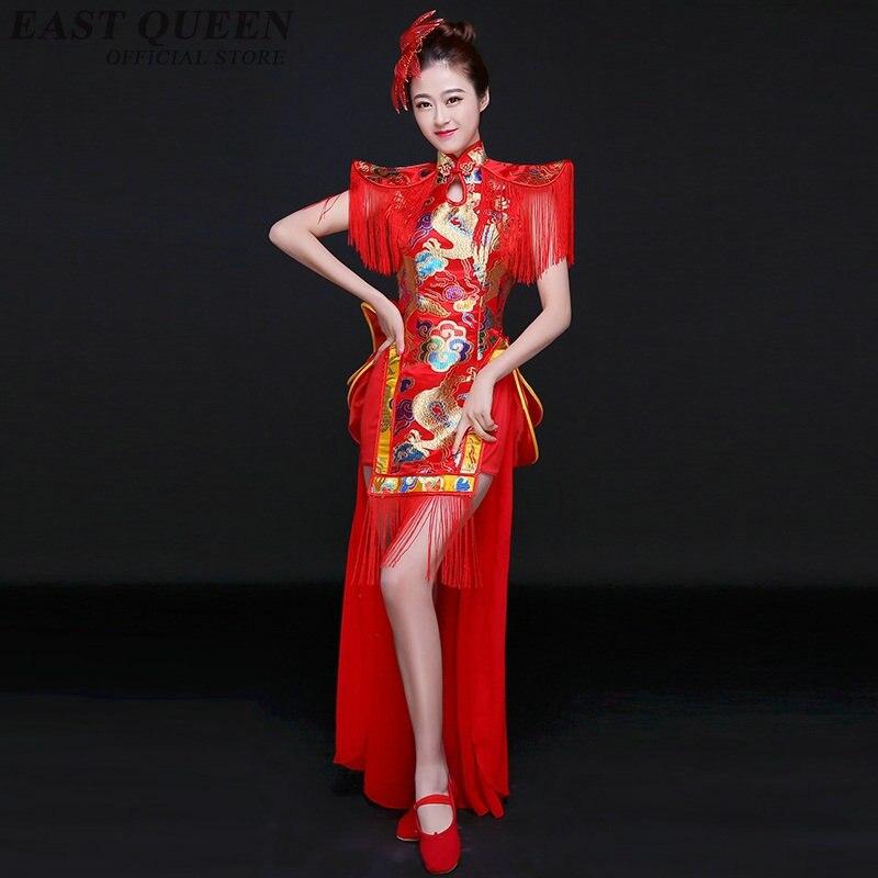 Ropa de Baile Folclórico chino disfraces de dragón de jazz Ropa de baile de tambor traje de actuación trajes de baile chino FF1113