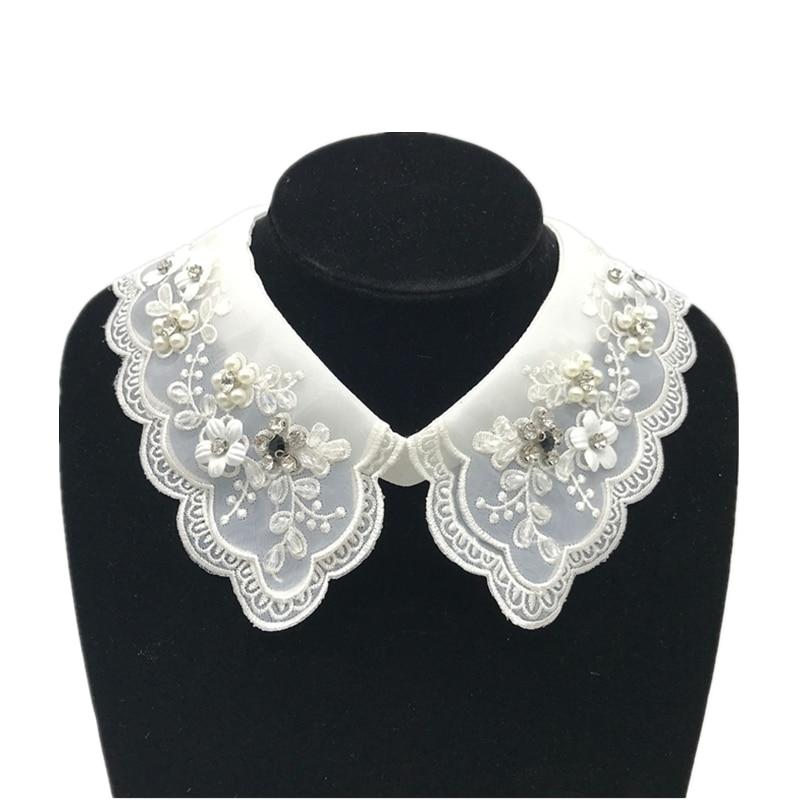 1pcs fashion shirt lace sweater Elegant False Collar wedding dress accessories XH-26-27 White & Black