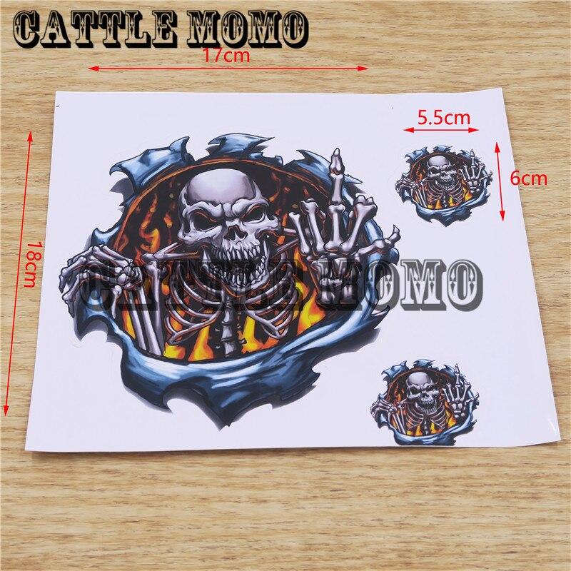 Decals For Harley Bike Skull Head Decals For Motorbike Fuel Tank Decals Stickers 1 Set